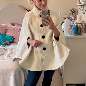 Steve Madden cream cape coat